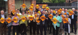 A big turnout for Michael Mullaney's campaign launch in Hinckley and Bosworth