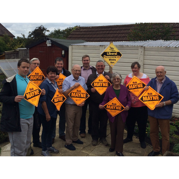 Rob Mayne secured a big swing to the Lib Dems in the Burbage by-election