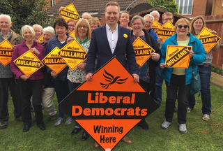 Michael Mullaney and local Lib Dem supporters