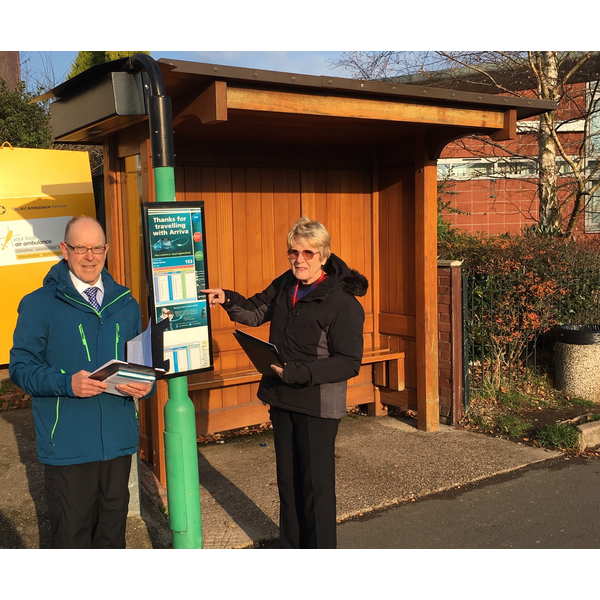 Bill and Joyce Crooks are campaigning to save the 159 Bus service that covers many local villages