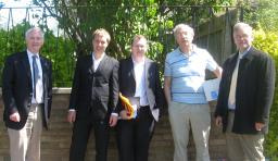 Bill Newton Dunn MEP and Ed Maxfield with local Lib Dems in Hinckley