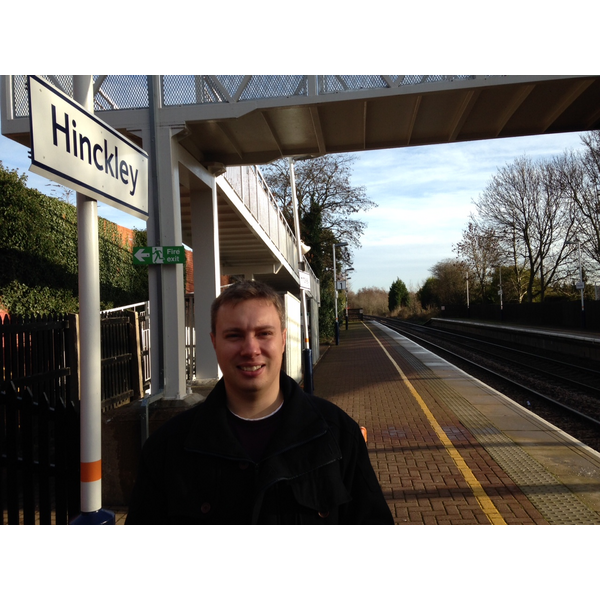 Cllr Michael Mullaney at Hinckley Railway Station