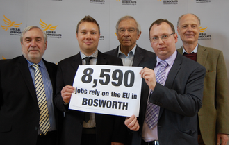 Bill Newton Dunn MEP, Michael Mullaney and the Lib Dems are working to protect and create jobs across HInckley & Bosworth and the rest of Britain.