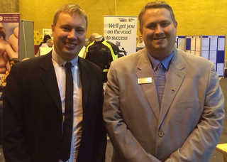 Michael Mullaney and Mathew Hulbert at the successful Hinckley Jobs Fair