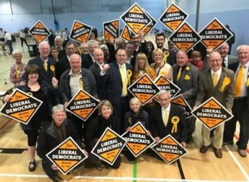 Local Lib Dems celebrate gaining Hinckley and Bosworth from the Tories ()