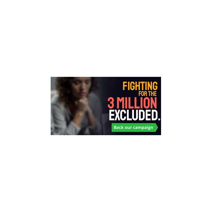 Fighting for the 3m excluded campaign graphic
